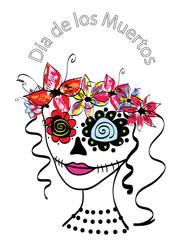 Day of the Dead Dia De Los Muertos girl