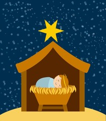 Christmas manger characters