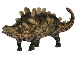 Crichtonsaurus Armored Dinosaur - Crichtonsaurus was a heavily armored Ankylosaurus that lived in the Cretaceous Period of China.