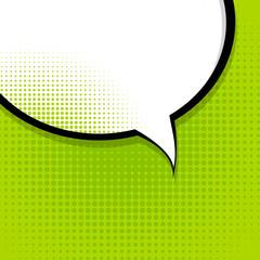 Speech Bubble Pop Art Background Vector