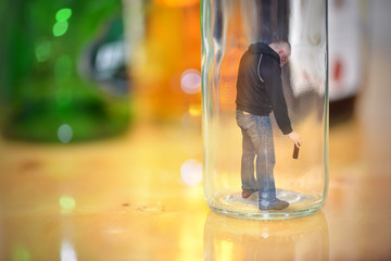Bad habit, alcoholism. Concept