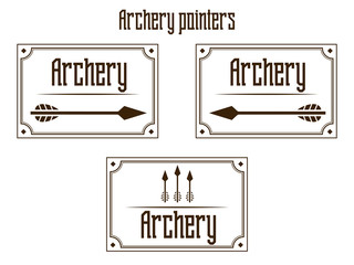 Pointers archery vector illustration