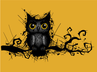 rough grungy owl