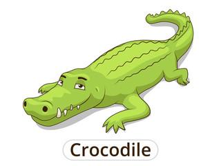 Crocodile african savannah animal cartoon