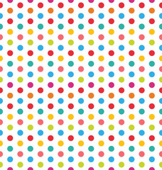 Seamless Polka Dot Background, Colorful Pattern for Textile