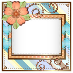 Card in scrapbooking style for greetings with different holidays