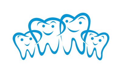 Family Dental Character Mascot Logo