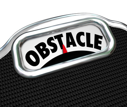 Obstacle Word Scale Lose Weight Diet Challenge
