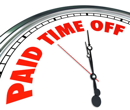 Paid Time Off Clock Words Employee Medical Sick Leave