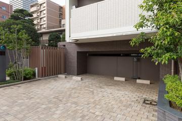 Fototapete - マンションの駐車場