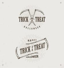 halloween trick or treat logos