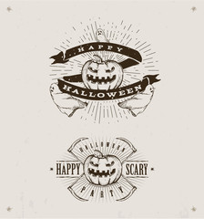 Foto op Textielframe Retro sign happy halloween logos