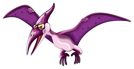 Purple dinosaur with wings