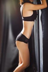 pretty woman in sexy underwear
