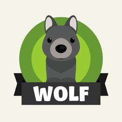Little Wolf. Vector illustrations