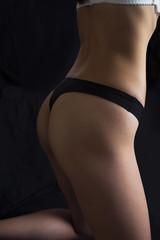 Closeup girl's hip
