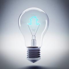 Energy of bulb light