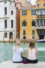 Fototapete - Tourist in Venice, Italy