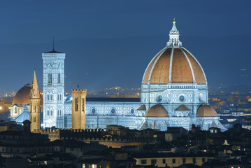 Fototapete - Cathedral Santa Maria del Fiore in Florence, Tuscany, Italy