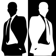 Businessman illustration incognito