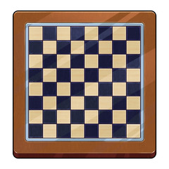 Illustration: International Chess Board. Fantastic Cartoon Style Game Asset Design.