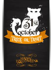 Halloween banner, Black Cat