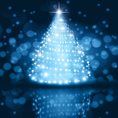 Christmas silver tree