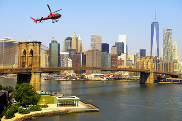 Helicopter tour over Manhattan, NYC