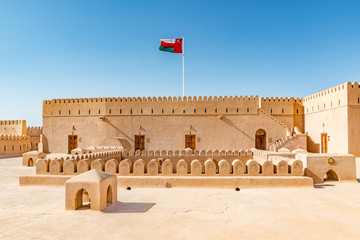 Al Hazm Fort in Rustaq, Oman. It is located about 175 km to the southwest of Muscat, the capital of Oman. Wall mural