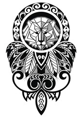 Tattoo design with lion