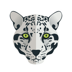 Jaguar head flat logo vector.