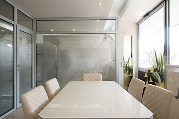 Interior of a small boardroom
