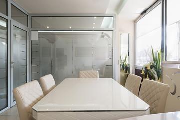 Interior of a small boardroom
