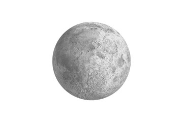 Digitally generated full grey moon