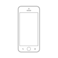 smartphone outline icon symbol on the white background