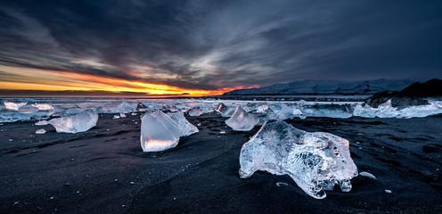 Fototapete - Jokulsarlon ice beach, Iceland