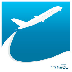 airplane flight tickets air fly cloud sky blue travel background