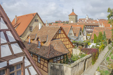 Rothenburg ob der Tauber , Bavaria, Germany