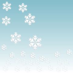 snowflake pattern on paper background 3d surround