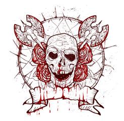 xmass tattoo skull