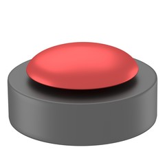 reflective red button with black base