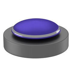 reflective blue button with black base
