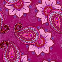 Henna Mehendi Tattoo Seamless Pattern on a pink background