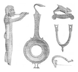 Votives and various bronze objects found in the ruins of Dodona,