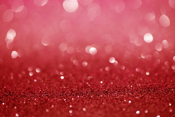 Red  Festive Christmas abstract bokeh background