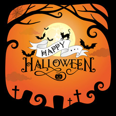 Halloween border design