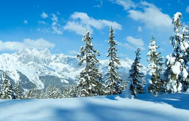 Winter Alp mountain landscape