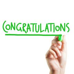 Hand written congratulations