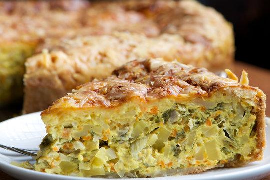 Quiche, Vegetable Pie