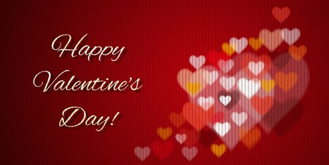 Happy Valentine's Day - greeting card